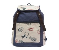 Ruff Canvas Plain & Solid Backpack 2.5 L Backpack Multicolor