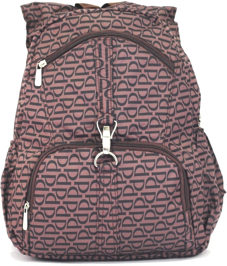 Gym Bag Flipkart: Pattern Bags Ladies Fancy Large College Backpack Brown
