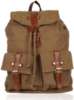 Zobello Canvas/Faux Leather 21 L Medium Backpack Brown, Size - 420
