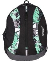 Justcraft Rock Star Black And Printed Green 25 L Backpack (Black And Printed Green)