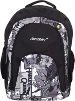 Justcraft Tiger Black And Printed Black 32 L Backpack Black