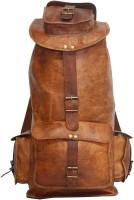 HIDE 1858 Digital Rajasthan Genuine Leather Rucksack Bag 67.1214 L Backpack Dark Tan, Size - 406.4
