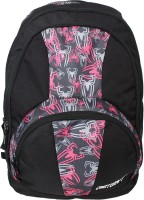 Justcraft Trendy Black And Printed Pink 30 L Backpack (Black And Pink)