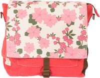 The House Of Tara Pink Flowers Bag 13 L Medium Backpack Multicolor, Size - 300
