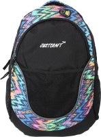 Justcraft Jigar Black And Printed Multi Color 25 L Backpack (Black And Multi)