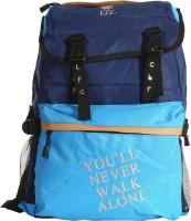 Liverpool FC Super Blue & Navy Blue Polyester 19 L Backpack Blue, Navy Blue, Size - 430