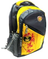 Neska Moda College Laptop Bag Backpack (Yellow, Grey, 15 Inch)