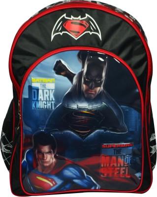 Batman Vs Superman School Bag (Black, 14 Inch)