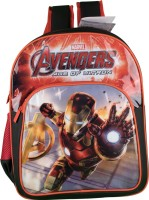 Iron Man School Bag (Black, Red, 16 Inch)
