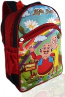 Digital Bazar Russian Red MONTU PONTU Cartoon School Bag (MANŌHARAMAINA KUMĀRUḌU) Edition Waterproof School Bag (Red, 14 Inch)