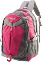 Gleam Mesh Padded School Waterproof School Bag (Pink, Grey, 17 Inch)