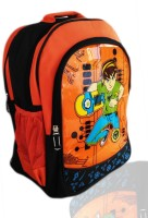 Digital Bazar Denver Wall Orange MIRACLE 10 Cartoon Net (SOUTH FIGHTER) Edition Waterproof School Bag (Orange, 16 Inch)