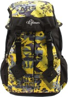 Gleam Mesh Padded School Waterproof School Bag (Yellow, Black, 17 Inch)