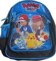 Pokemon Waterproof School Bag (Multicolor, 14 Inch)