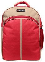 Bleu School Bag Waterproof Backpack (Beige, Red, 17 Inch)