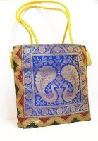 The Bedifferent Store Silk Thread Shoulder Bag Blue