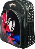 Spiderman School Bag (Black, 18 Inch)