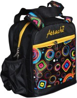 Attache Padded 1 Container Box Waterproof School Bag (Black, 4 L)