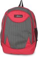 Bleu School Bag Waterproof Backpack (Red, Grey, 17 Inch)