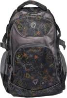 Club Sport Flap Bag Waterproof Backpack (Grey, Black, 12 Inch)