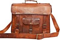 Arya Handmade Leather Laptop Bag Brown