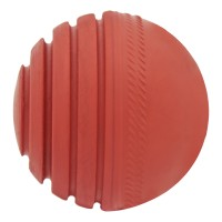Omtex Wobble Ball Cricket Ball -   Size: 5.5,  Diameter: 2.5 Cm (Pack Of 1, Red)
