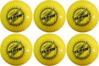 FLASH WIND Cricket Ball -   Size: STANDARD,  Diameter: 7.3 Cm (Pack Of 6, Yellow)