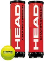 Head Champion Ship Tennis Ball -   Size: 7,  Diameter: 2.5 Cm (Pack Of 6, Yellow)
