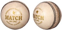 Priya Sports White Cric Cricket Ball -   Size: 5,  Diameter: 2.5 Cm (Pack Of 2, White)