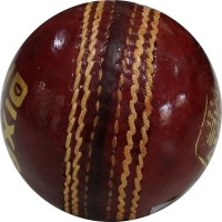 Dixon Time Leather Cricket Ball -   Size: Standard,  Diameter: 7.2 Cm (Pack Of 1, Red)