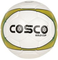 Cosco Gold Cup Football -   Size: 5,  Diameter: 5 Cm (Pack Of 1, White, Yellow)