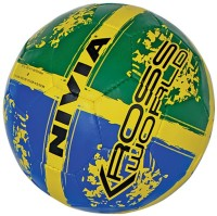 Nivia Kross World Football -   Size: 5,  Diameter: 22 Cm (Pack Of 1, Blue, Green)