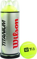 Wilson Titanium Tennis Ball -   Size: 2.5,  Diameter: 2.5 Cm (Pack Of 3, Yellow)