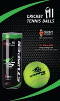 MVPL Stumper Tennis Ball - Size: 4, Diameter: 2.5 Cm (Pack Of 6, Green)