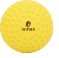 Omtex Dimple Cricket Ball -   Size: 5.5,  Diameter: 2.5 Cm (Pack Of 1, Yellow)