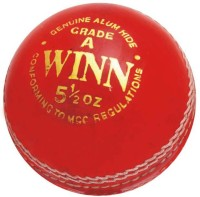 CW Winn Leather Cricket Ball -   Size: Full Size,  Diameter: 22 Cm (Pack Of 3, Red)