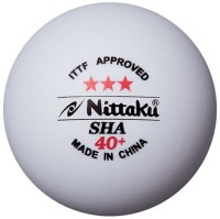 Nittaku SHA 40+ Plastic Ping Pong Ball -   Size: 4,  Diameter: 4 Cm (Pack Of 3, White)
