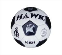 Hawk Kidi Wht/Blk Football -   Size: 3,  Diameter: 20.5 Cm (Pack Of 1, White)