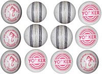 APG Yorker Cricket Ball -   Size: 5,  Diameter: 7 Cm (Pack Of 12, White)