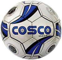 Cosco Madrid Football -   Size: 5,  Diameter: 5 Cm (Pack Of 1, White, Blue)