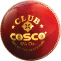 Cosco Club Cricket Ball - Pack of 6, Red