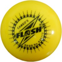 FLASH WIND Cricket Ball -   Size: STANDARD,  Diameter: 7.3 Cm (Pack Of 1, Yellow)