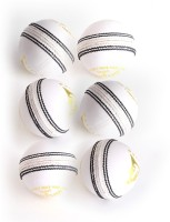 Wolfer Supreme County White Leather Cricket Ball -   Size: 6,  Diameter: 7.25 Cm (Pack Of 6, White)