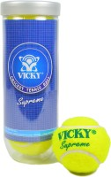 Vicky Supreme Heavy Cricket Ball -   Size: Standard,  Diameter: 2.5 Cm (Pack Of 3, Yellow)