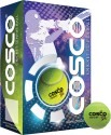 Cosco High Bounce Cricket Ball - Pack of 6, Fluorescent Yellow