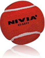 Nivia 02 Cricket Ball - Size: 5, Diameter: 2.5 Cm (Pack Of 12, Red)