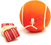 Megaplay Throw Back Tennis Ball -   Size: Standard,  Diameter: 2.5 Cm (Pack Of 1, Orange)