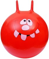 Kemket Ride-on Bouncy Jumping Ball -   Size: 65 Cm,  Diameter: 65 Cm (Pack Of 1, Red)