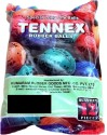 Tennex Rubber Assorted Colour Cricket Ball -   Size: Standard,  Diameter: 6 Cm - Pack Of 12, Red, Orange, Blue, Green