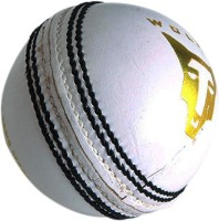 Wolfer Supreme County White Leather Cricket Ball -   Size: 6,  Diameter: 7.25 Cm (Pack Of 1, White)